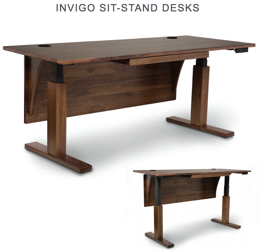 Wooden Stand Up Desk ~ Best height adjustable standing desk invigo by copeland