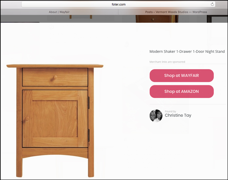 Modern Shaker Nightstand | Made in Vermont | High End Furniture Shopping