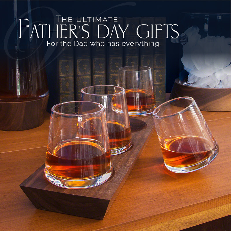 Find the Ultimate Fathers Day Gift | Vermont Woods Studios | Simon Pearce Whiskey Glasses