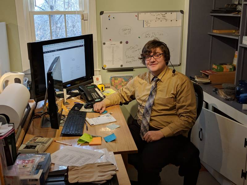 Jake Friend at his desk in our Operations room