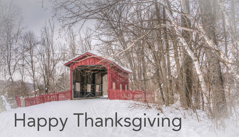 Happy Thanksgiving | Vermont Woods Studios