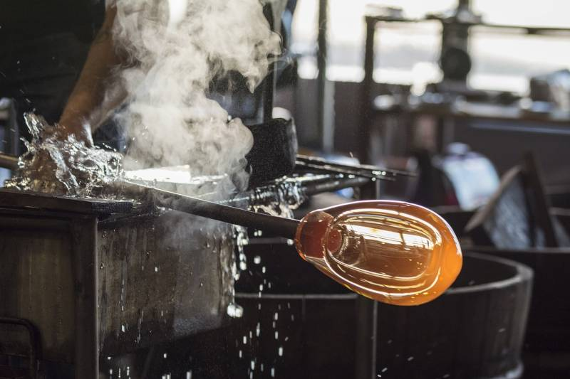 Glass blowing in Vermont. Visit our friends at Simon Pearce in Quechee, VT to see it in action.