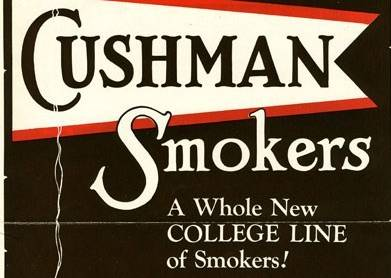 Advertisement for Cushman Furniture College Smoking Stands