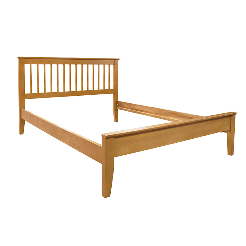 American Mission bed with a Medium Maple finish