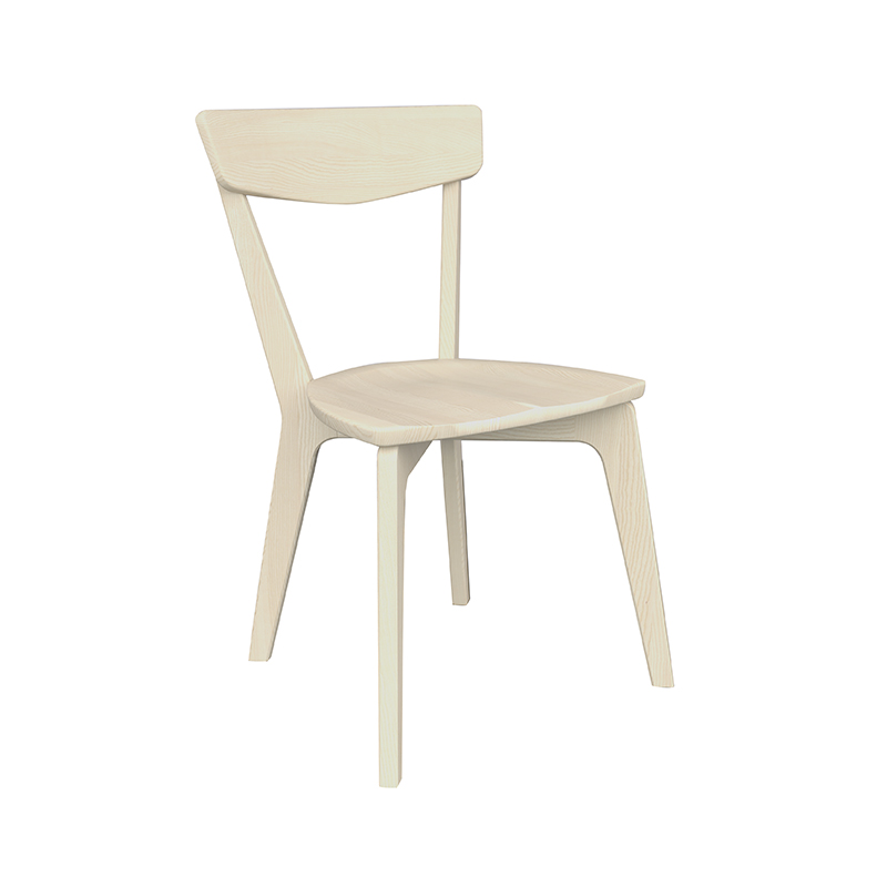 A Sheldon Chair in Ash with an Ivory finish