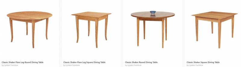 Classic Shaker Tables