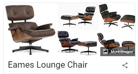 Screenshot of Google search results for Eames Chair