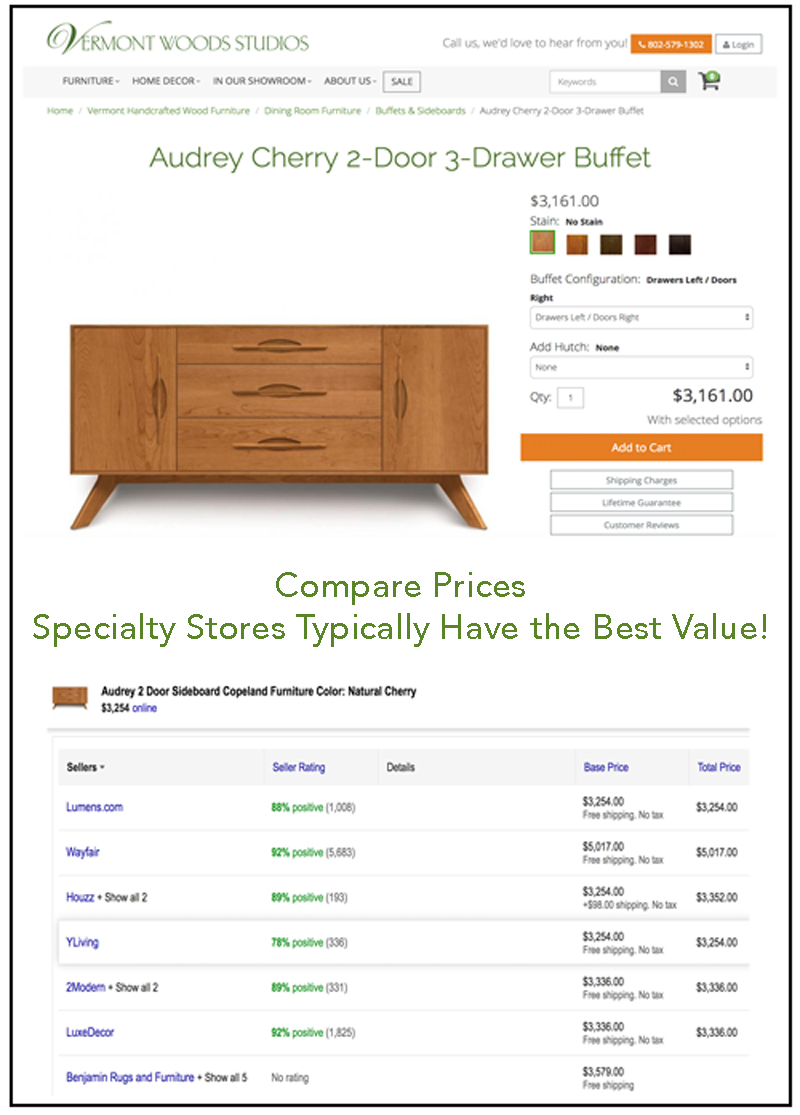 Buy Vermont Made Furniture Direct & Save Money | Vermont Woods Studios