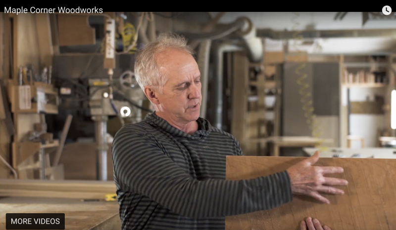 Buy Vermont Made Furniture Direct | Robin Chase at Maple Corner Woodworks | Vermont Woods Studios