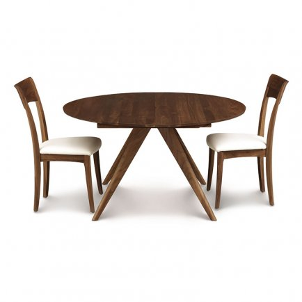 Catalina Walnut Round Extension Table