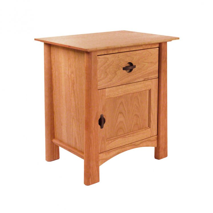 Cherry Moon 1-Drawer Nightstand With Door