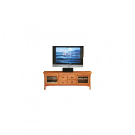 Contemporary Craftsman 4-Drawer Media Console