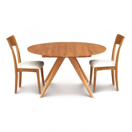 Catalina Cherry Round Extension Table