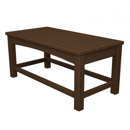 "Outdoor 17"" x 35"" Rectangular Coffee Table"