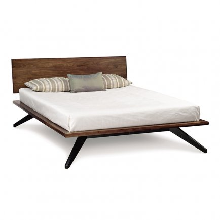 Astrid Walnut Platform Bed