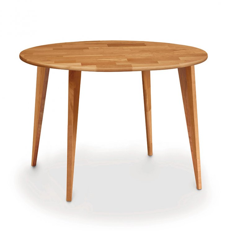 Essentials Cherry Round Dining Table with Wood Legs