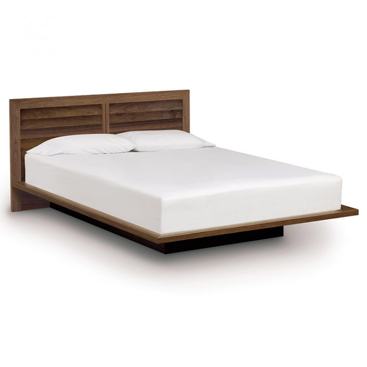 "Moduluxe Platform Bed with Clapboard Headboard - 35"" Series"