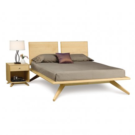Astrid platform bed in maple by copeland furniture - Contemporary maple bedroom furniture ...