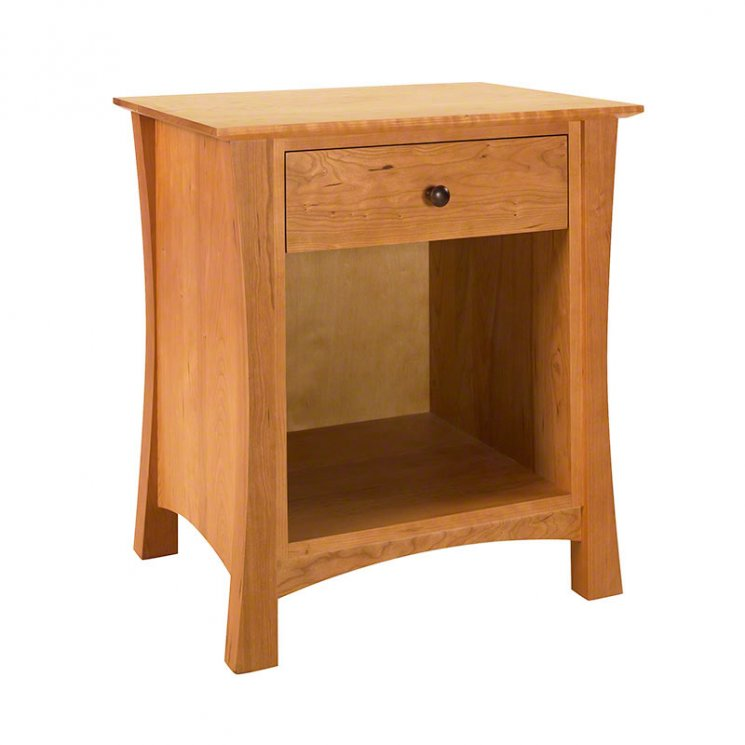 Andrews 1-Drawer Enclosed Shelf Nightstand
