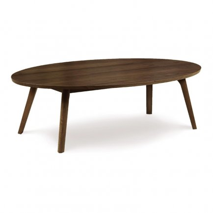 Catalina Walnut Oval Coffee Table