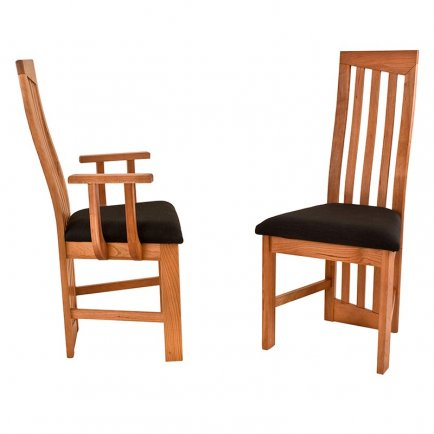 Modern High Back Cherry Dining Chairs