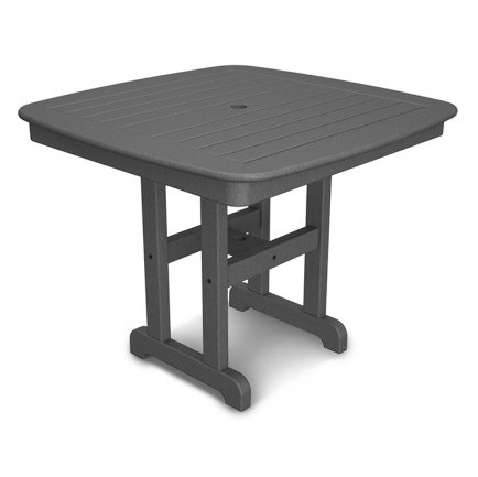 "Nautical 37"" Square Patio Dining Table"