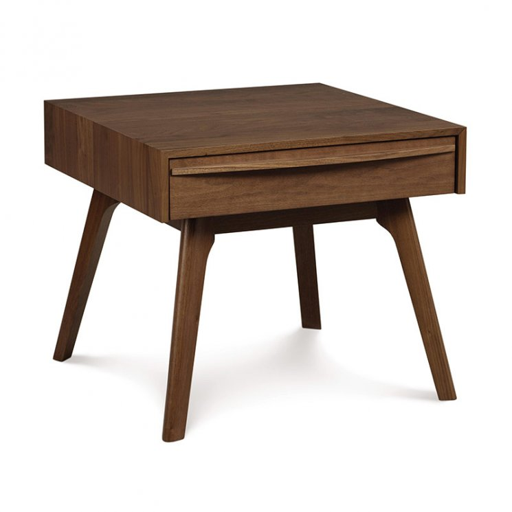 Catalina Walnut 1-Drawer Nightstand