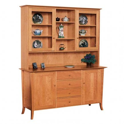 vermont kitchen cabinets classic shaker buffet amp hutch vermont woods studios 3127