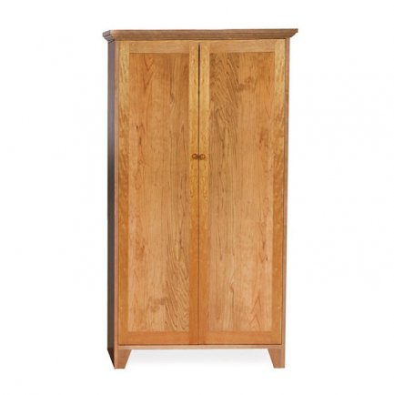 Solid Wood Bookcase Full Panel Doors
