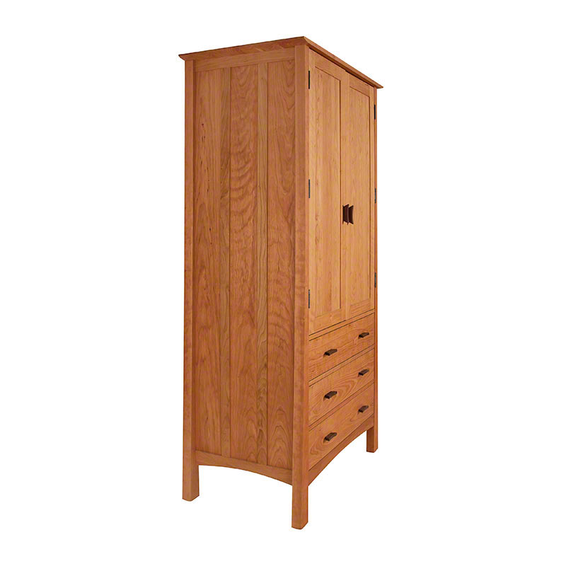 Contemporary Craftsman Tall Armoire - Vermont Woods Studios