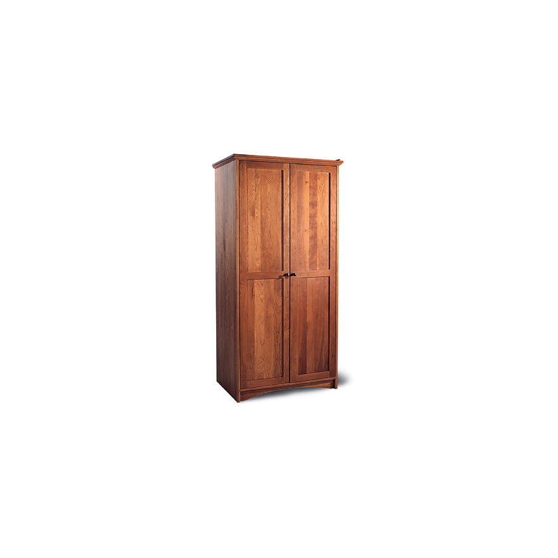 Ash Solid Wood Shaker Wardrobe ~ High end shaker full length armoire solid wood vermont