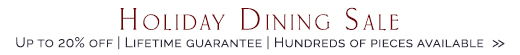 Holiday Dining Room Sale