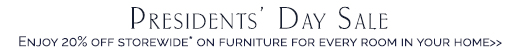 Presidents Day Furniture Sale
