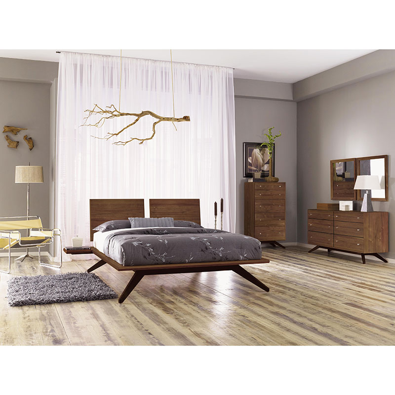 copeland astrid wood platform bed solid walnut vermont made in