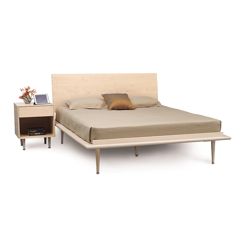 Copeland canvas maple bed american made bedroom furniture for American made beds