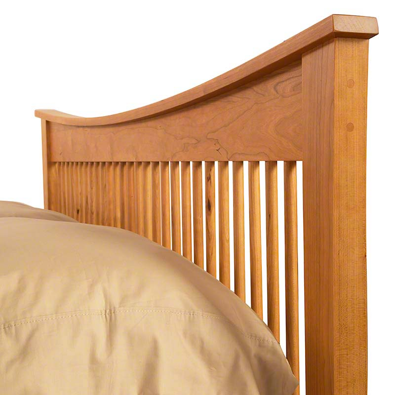 andrews natural cherry spindle bed - Spindle Bed