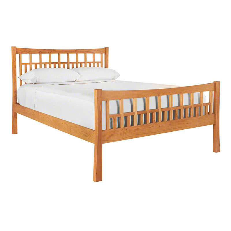 Contemporary Craftsman High Footboard Bed in Natural Cherry
