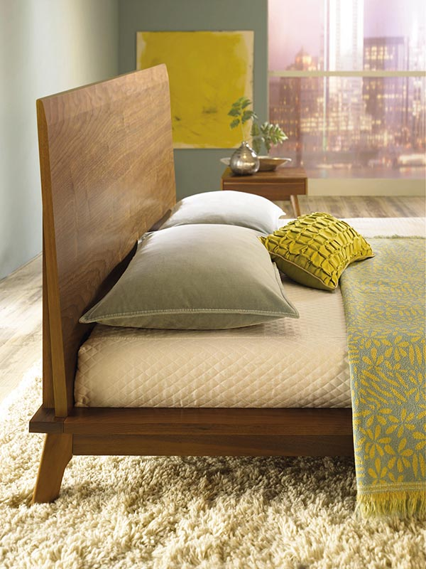 Catalina Modern Wood Platform Bed | Solid Maple or Walnut Wood ...
