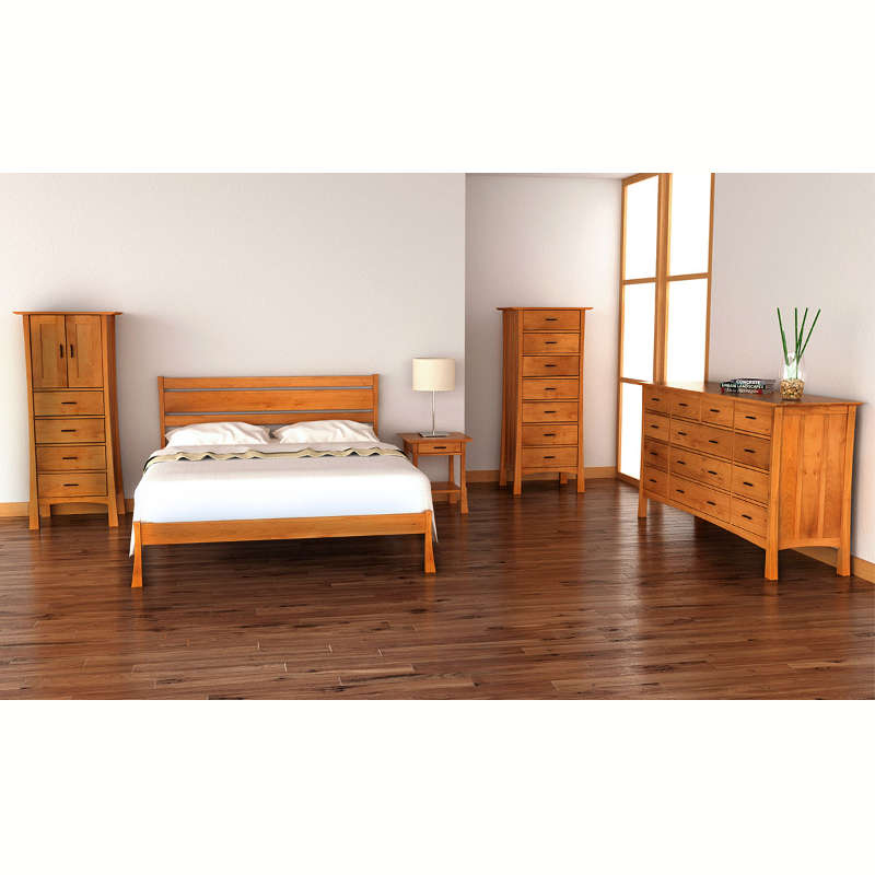 horizon platform bed handmade in usa with natural solid woods