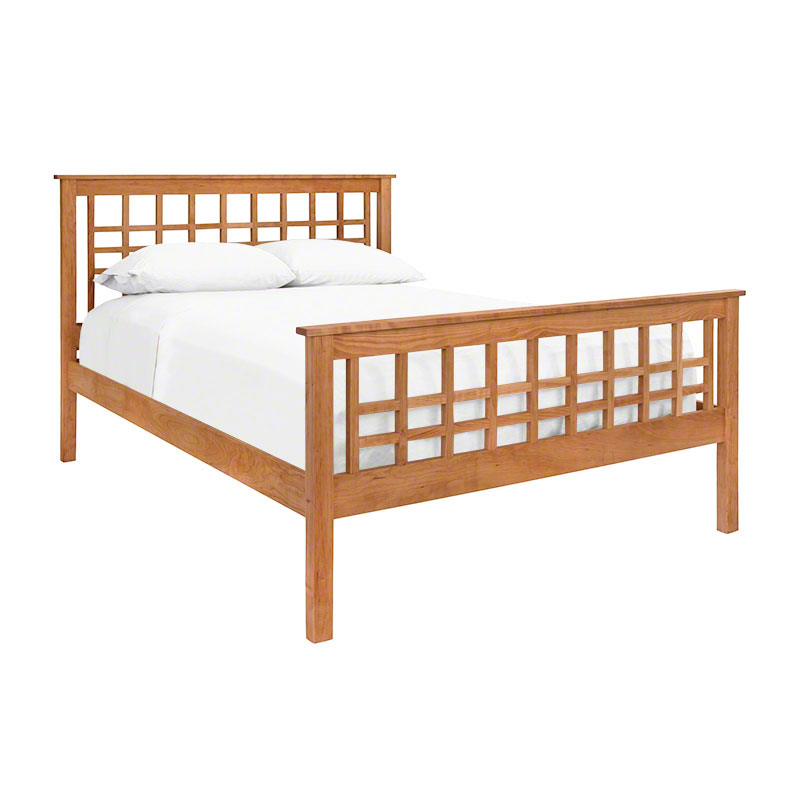 Mission style bed vermont made bedroom furniture for Craftsman bed
