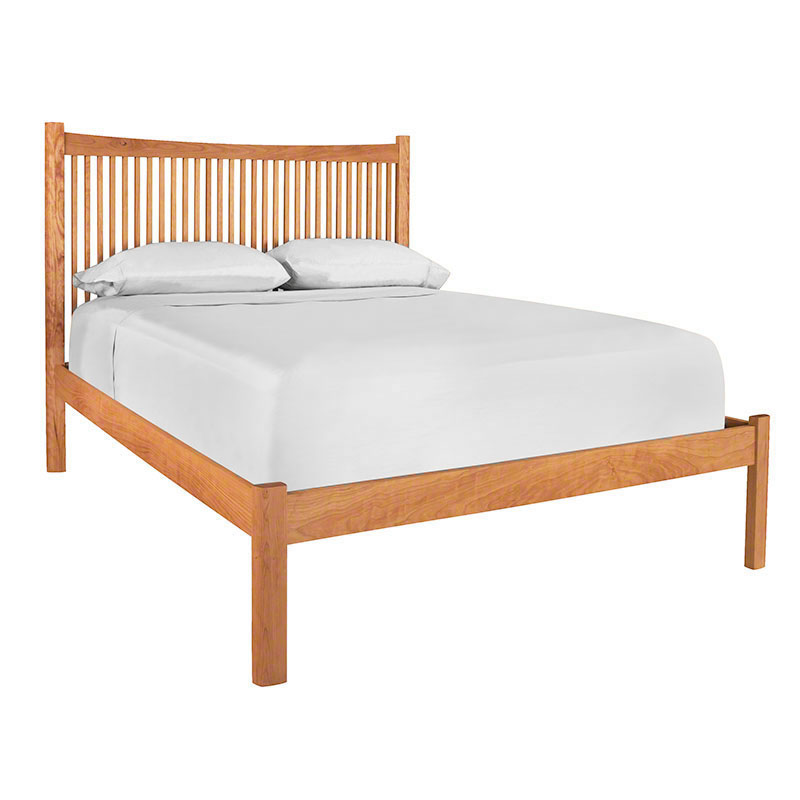 Modern Shaker Low Footboard Platform Bed Made In The USA American Luxury