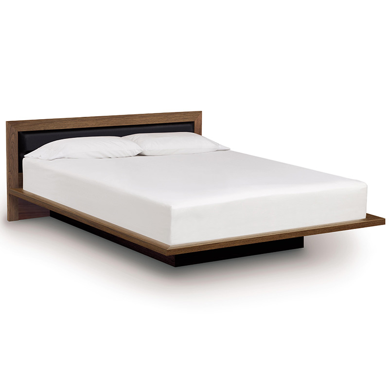 moduluxe platform bed with upholstered headboard 29 - Upholstered Platform Bed
