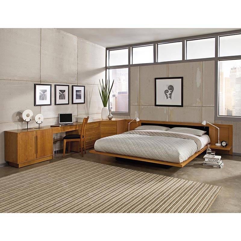 moduluxe platform bed with upholstered headboard 29