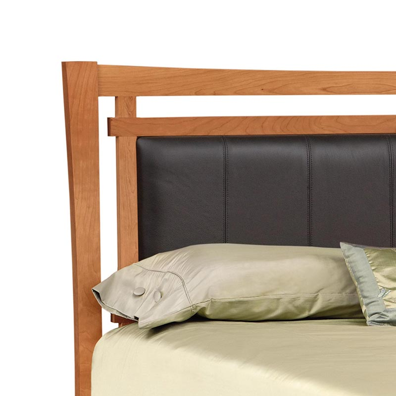 Monterey Cherry Storage Bed With Upholstered Headboard