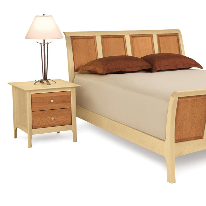 Copeland Sarah Cherry Amp Maple 2 Tone Wood Sleigh Bed