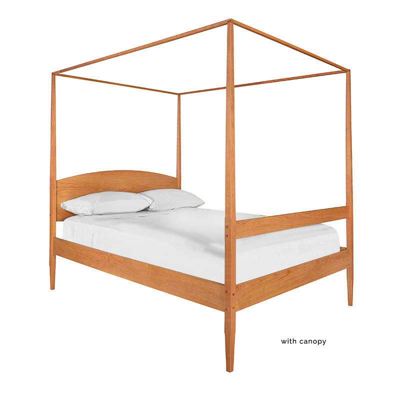 Shaker Wooden Poster Bed Solid Wood 4 Poster Beds in Cherry