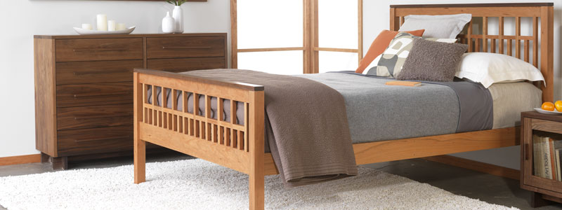 Handmade Solid Wood Beds | Natural Cherry, Maple, Walnut, Oak