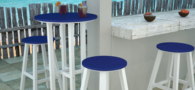 Outdoor Counter Height Dining Chairs Stools Polywood All