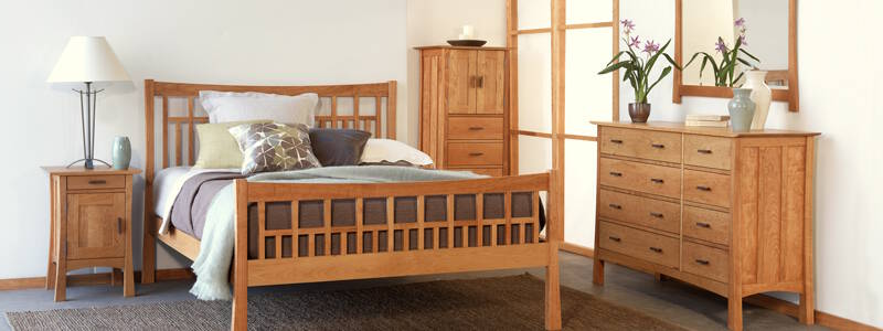 mission style bedroom furniture by schrocks of walnut