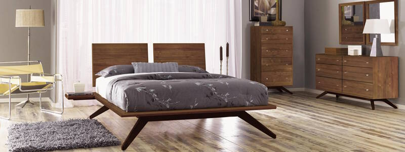 modern wood bedroom furniture. Astrid Bedroom Furniture Copeland Modern Wood | Walnut Maple